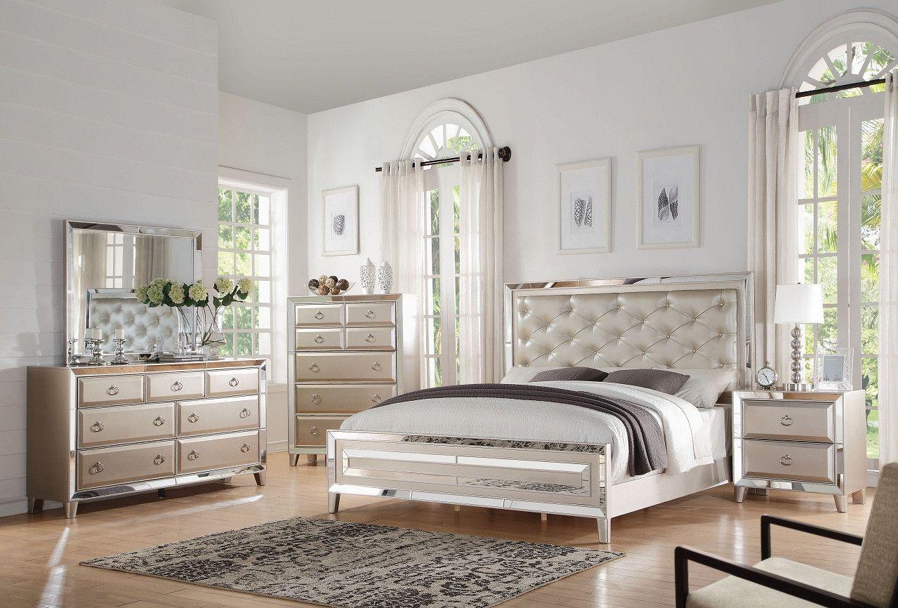 Voeville Platinum 4 Pcs Bedroom Sets Description The Voeville