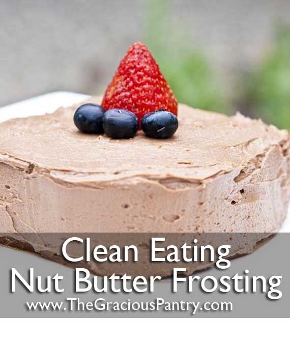 Clean Eating Chocolate Nut Butter Frosting #Artsandcrafts