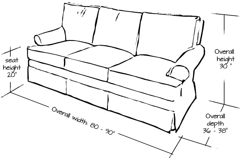 Standard Sofa Dimensions In Inches With Images Sofa Dimension
