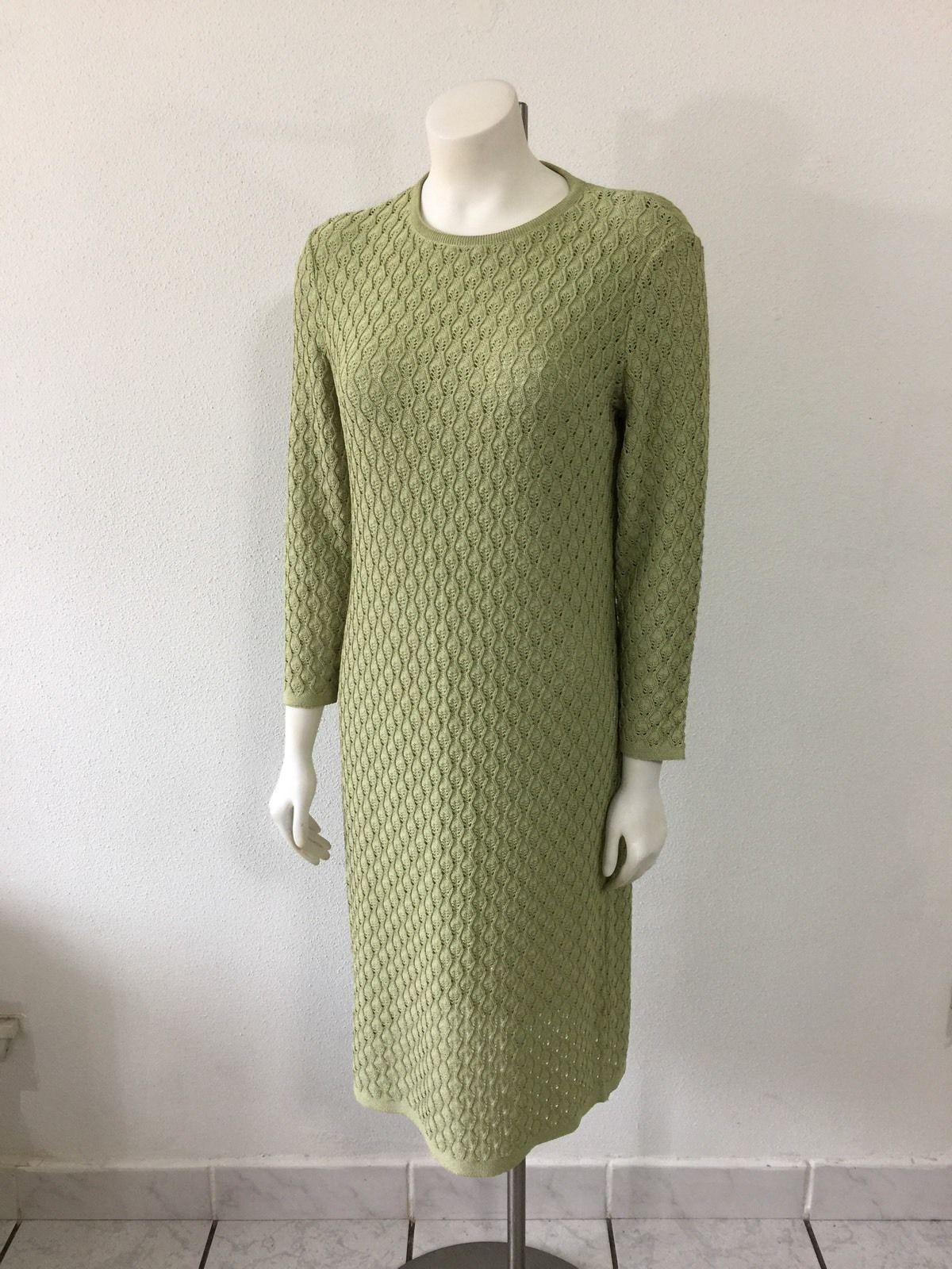 Vintage 1960s 60s Sweater Dress Kimberly Yarn Open Knit Light Green Mod Go Go | eBay