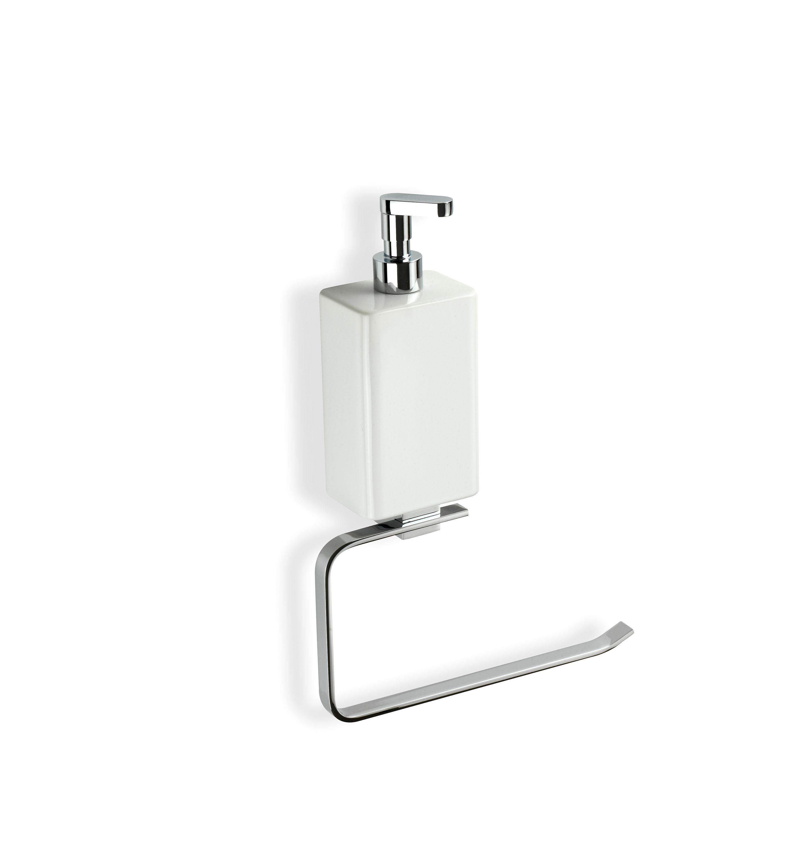 Toilet handdoekhouder en zeepflesje in één!