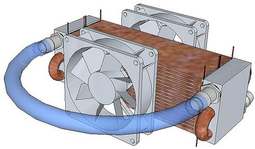 Cooling chiller with water block and fan aquascape for Fish tank cooler