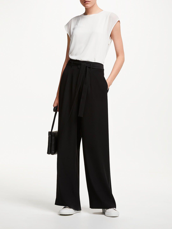 3531c0de0e John Lewis & Partners Paper Bag Waist Trousers, Black in 2019 | My ...