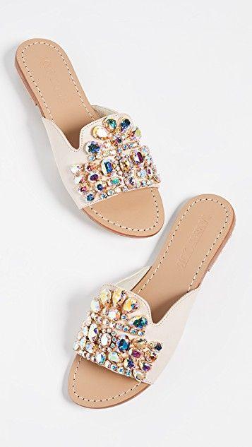 Jewel Mix Slide Sandals | Sandalias en 2019 | Zapatos de