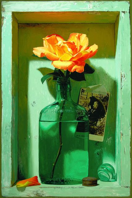 trompe l'oeil - Debra Teare (American artist, one of the most successful trompe l'oeil painters today, born 1955).