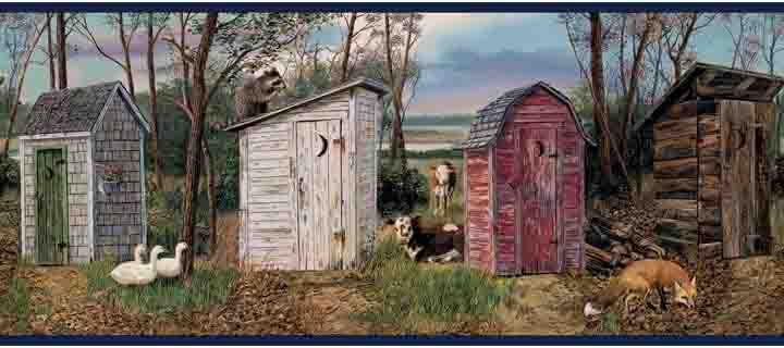 Country Outhouse Wallpaper Border Navy Wallpaper Wallpaper Border Wallpaper Borders For Bathrooms