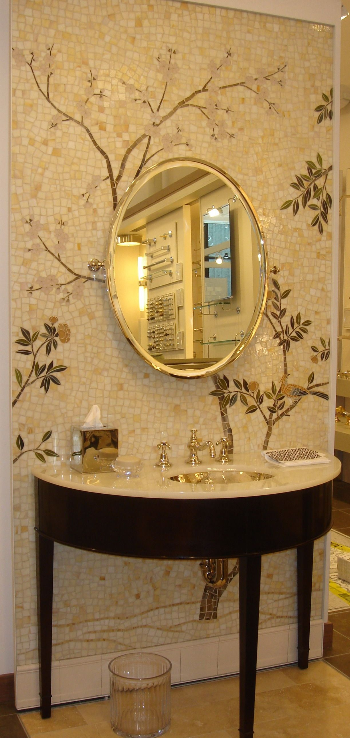 Tempo Mosaic And Etoile Faucet Display In The Flatiron Showroom
