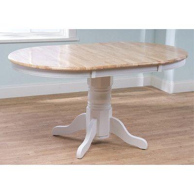 One Allium Way Leonora Dining Table Finish: White / Natural ...