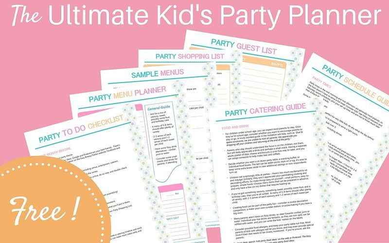 Free kids planning download Easy Breezy Parties Harry Potter