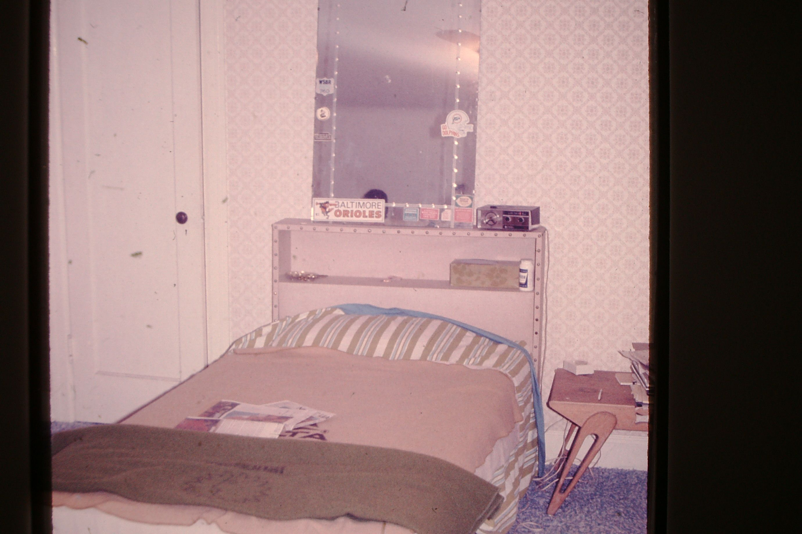 my bedroom with national airlines green blanket springfield mo