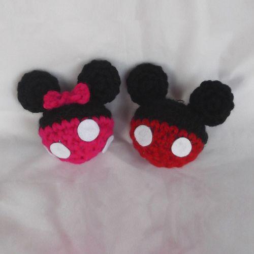 LLaveros de Mickey y Minnie - Patrón Gratis en Español | Knit ...