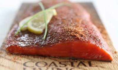 Salmon on a cedar plank. #seafood
