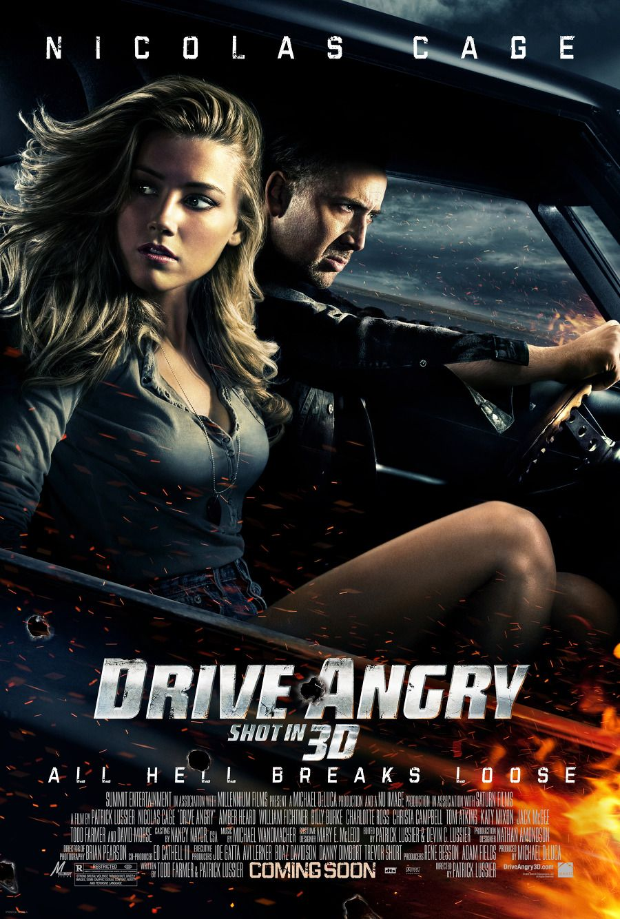 Drive Angry 2011 By Patrick Lussier Drive Angry Nicolas Cage Drive In Movie