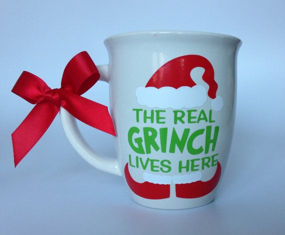 The Real Grinch Lives Here Funny Mug Mother By