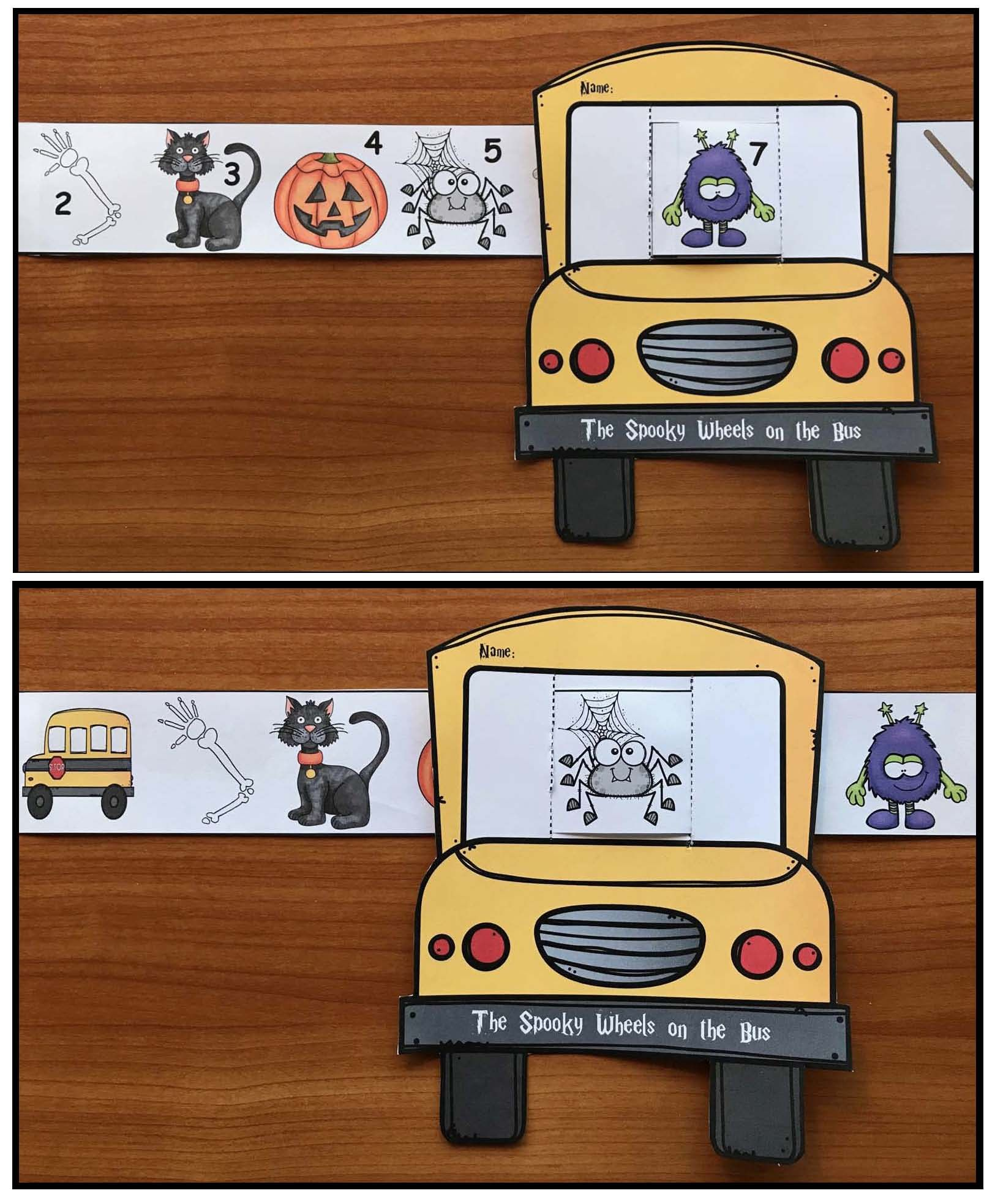 Activities To Go With The Spooky Wheels On The Bus Story