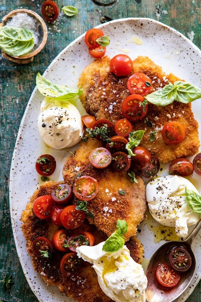 Photo of Basil Chicken Saltimbocca with Marinated Tomatoes and Burrat…