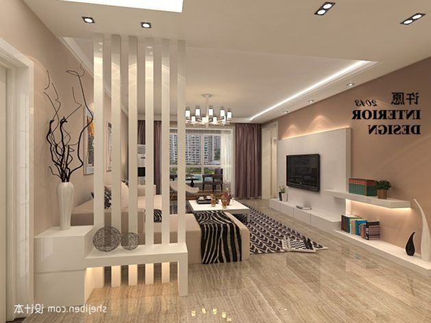remarkable florida design living room ideas | Home Design Ideas About Half Walls Pony Wall With ...