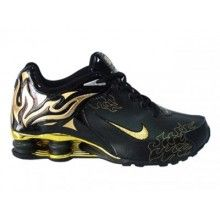 timeless design 73cbe e580a Nike Shox R4 Torch mens shoes black gold yellow