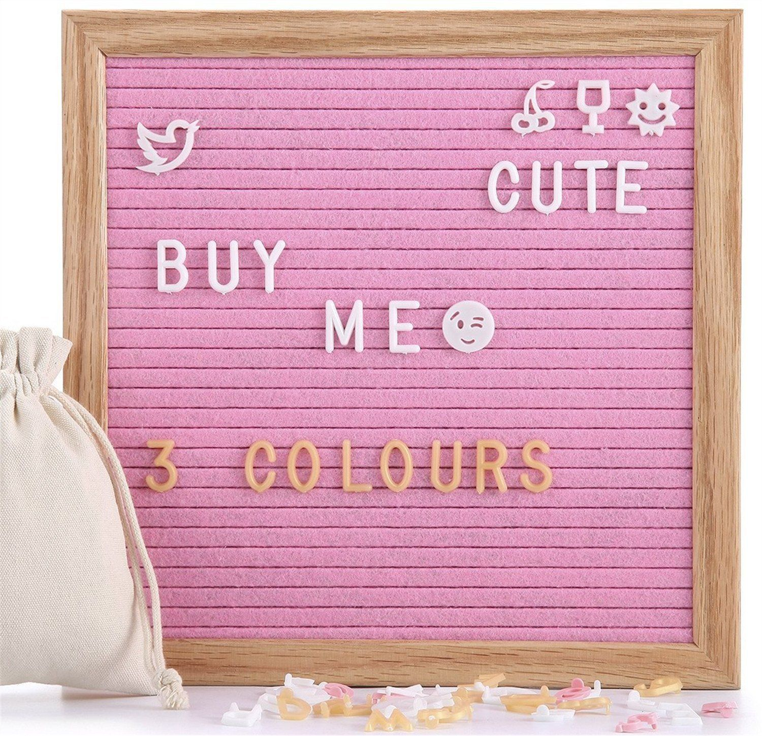 Christian gift pink retro letter board under u20 from