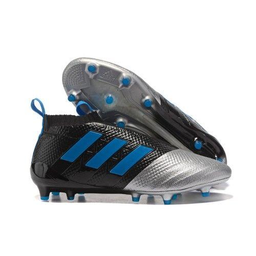 size 40 72d5e 93e68 Adidas ACE 17 PureControl FG Botas De Futbol Plata Negro Azul