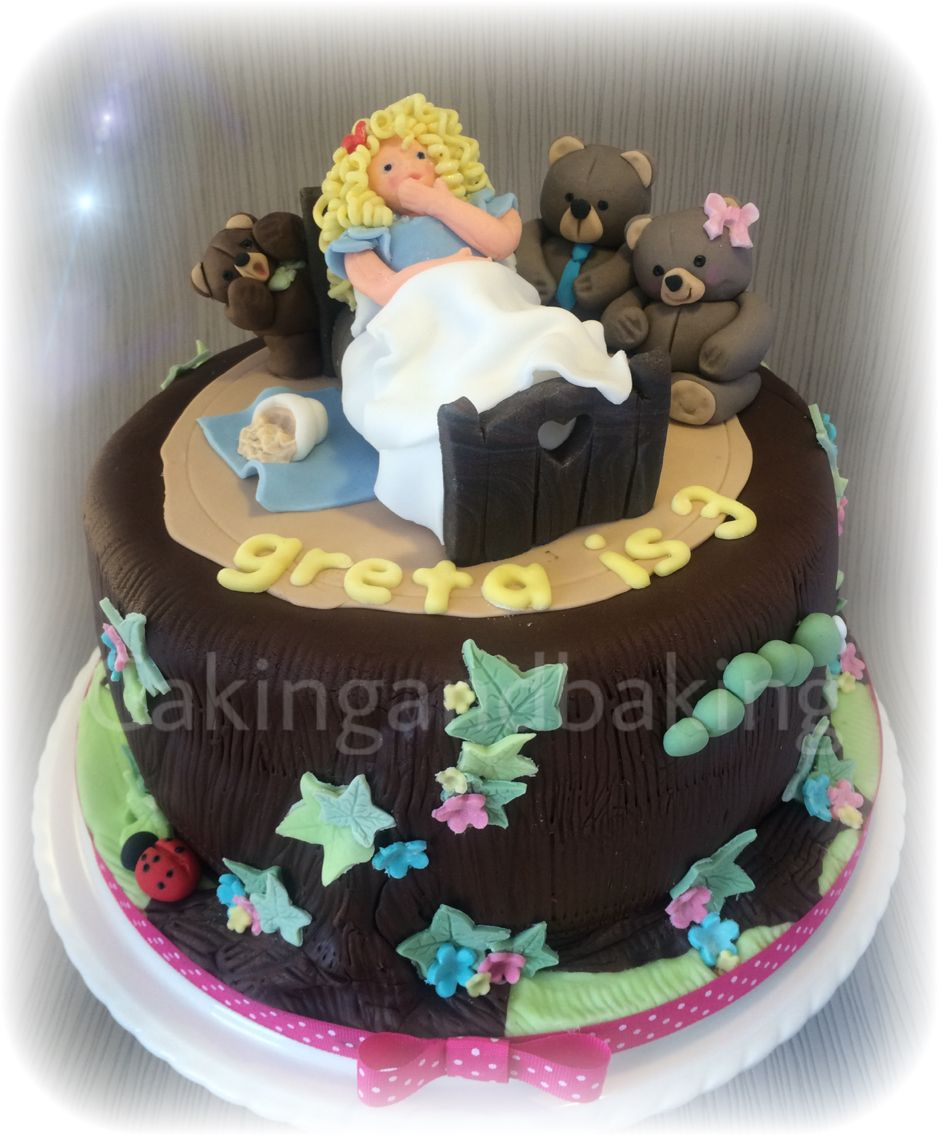 Happy 3rd Birthday Greta Goldilocks 3bears Cake Cakes