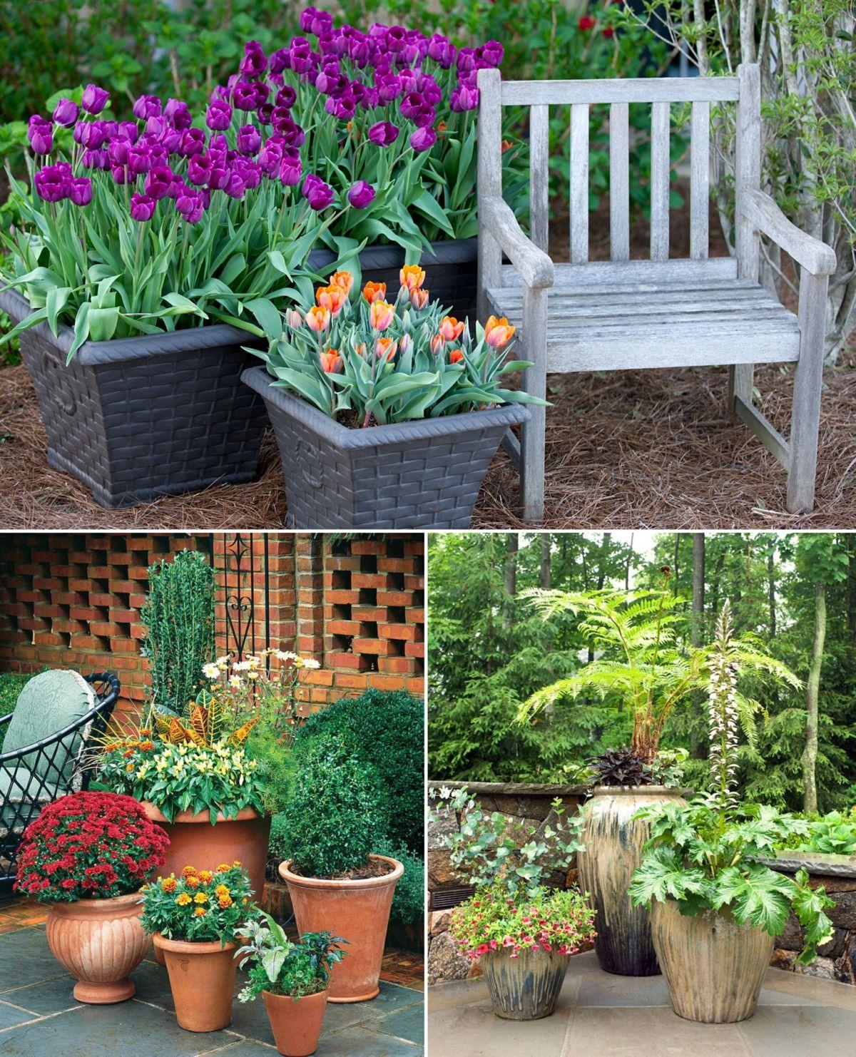 Eine Gruppe Aus Kubeln Und Topfen Mit Pflanzen Ist Eine Schone Deko Fur Tote Ecken Garten Gestalten Garten Gestalten Ideen Garten
