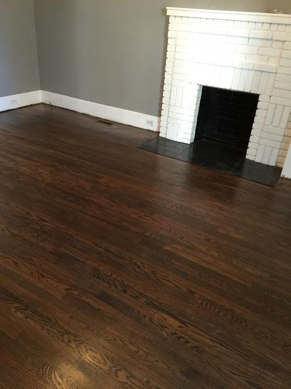 Lenoir City Jacobean Stain Oak Refinish Hardwood InstallationHardwood