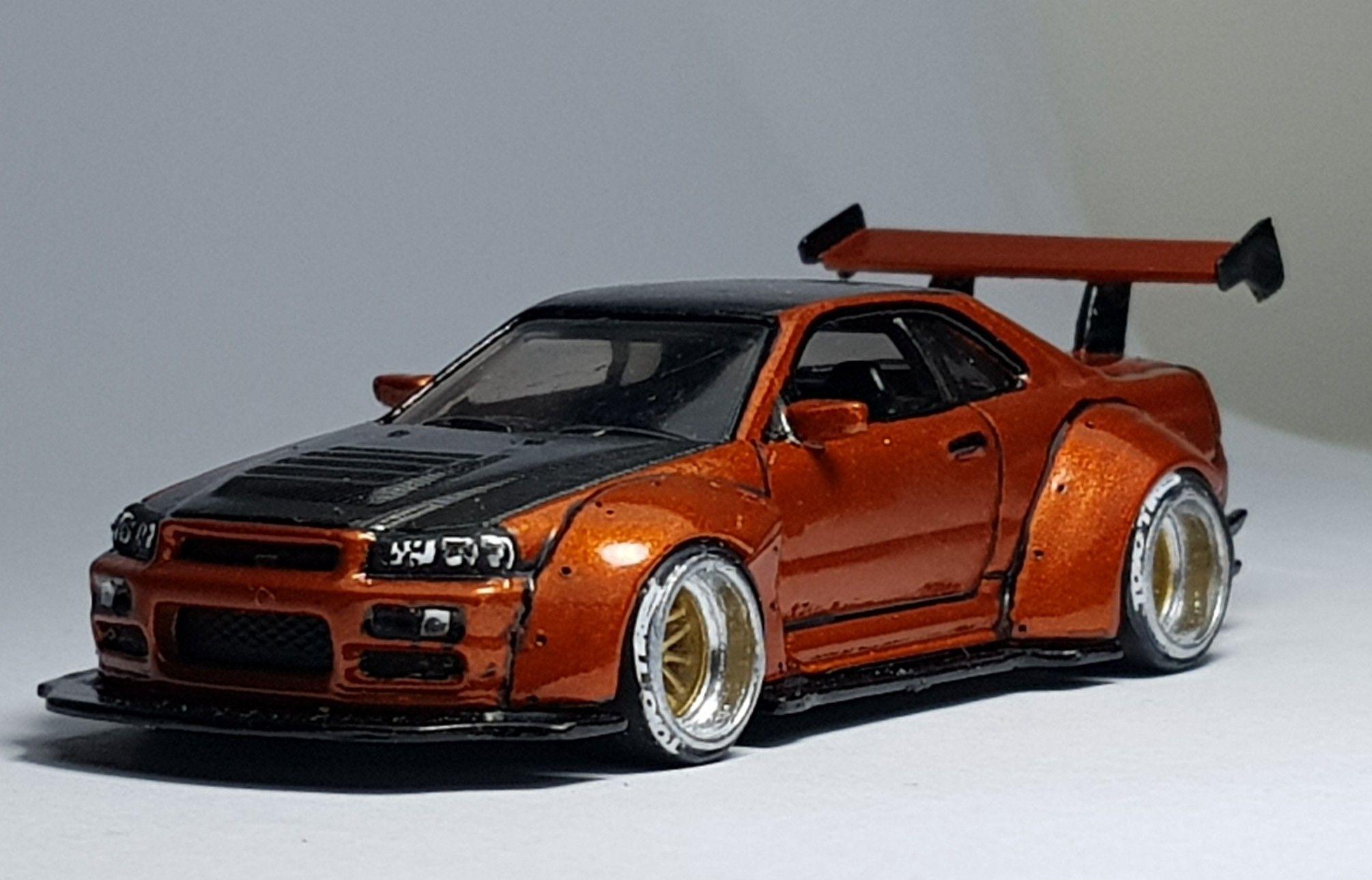 My Hotwheels Custom Nissan Skyline R34 Jon Sibal Style Custom Hot Wheels Hot Wheels Toys Hot Wheels Garage