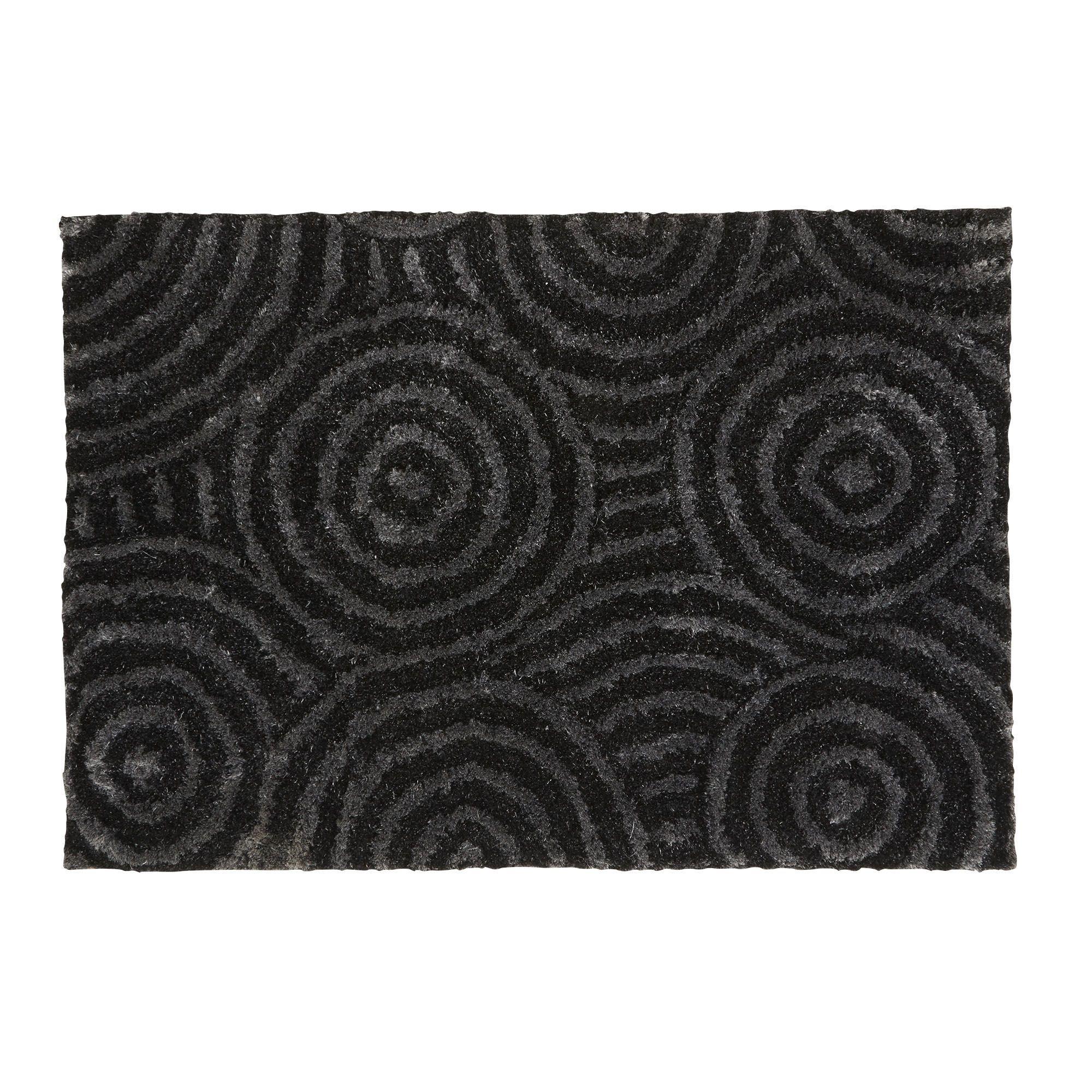 Tapis A Motifs 160x230cm Gris Argent Madji Les Tapis Textiles Et Tapis Salon Et Salle A Manger Decoration D Interieur Alinea