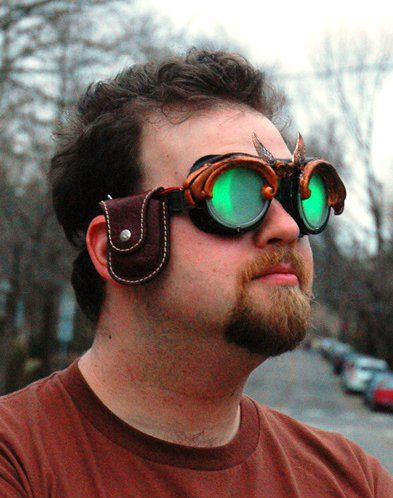 9d08b8591 óculos steampunk! | steamdreaming | Night vision, Round sunglasses e ...