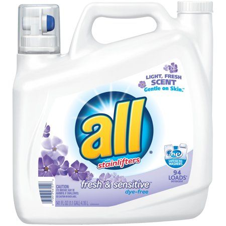 All Liquid Laundry Detergent Free Clear With Odor Relief 141