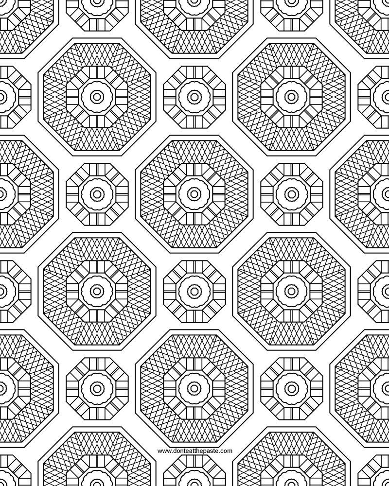 3 27 12pattern1 100 patterns coloring pagesprintcolouring - Coloring Pattern Pages