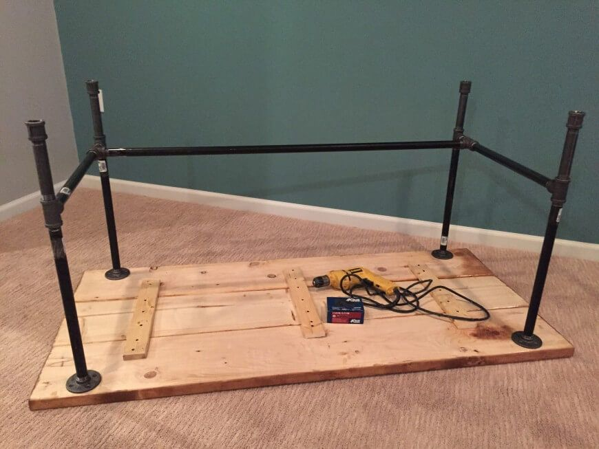Diy how to build a desk pinterest