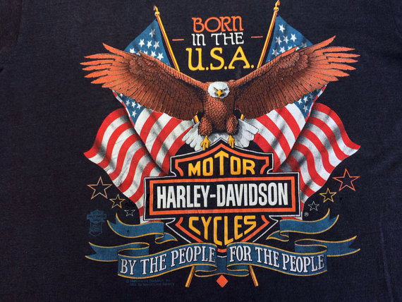 Harley Davidson 1989 Tshirt Original Usa Made By Sweetvtgtshirt