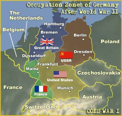 World Map Of Germany.Occupation Zones Of Germany After World War Ii Learning From