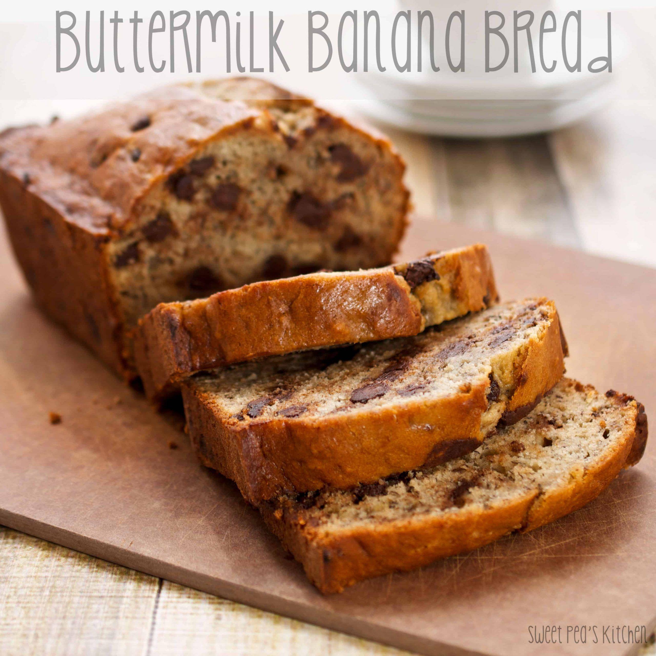 Buttermilk Banana Bread Recipe In 2020 Buttermilk Banana Bread Best Banana Bread Banana Recipes