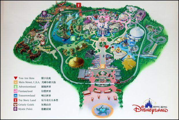 Resultado de imagem para hong kong disneyland map