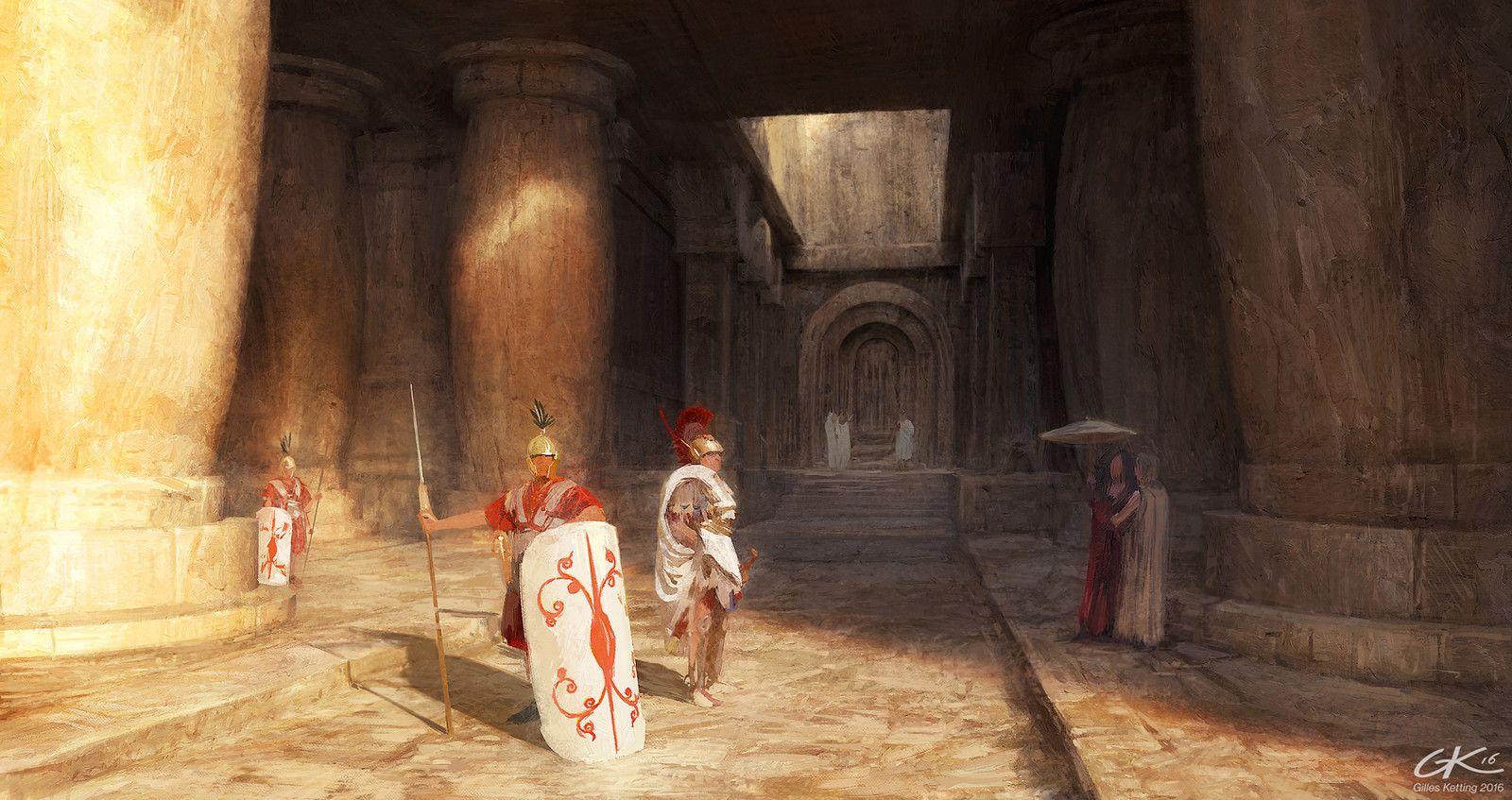 Visit to the southern ruins, Gilles Ketting on ArtStation at https://www.artstation.com/artwork/4R1Jn