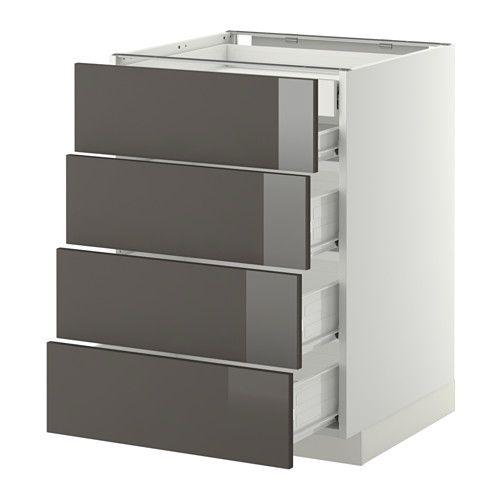 IKEA - METOD / FÖRVARA, Élt bas 4faces/2tiroirs bas+3moyens, blanc
