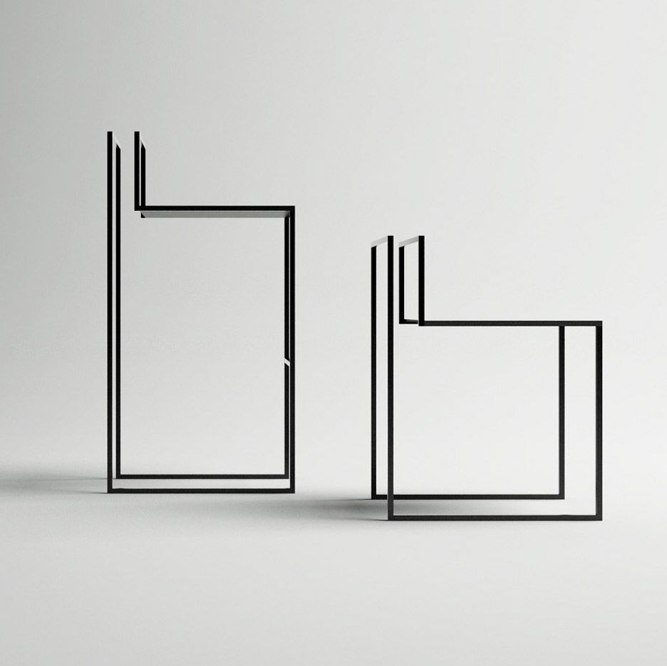 Gentle Hint Chairs By Nissa Kinzhalina Interior Design, Furniture Design,  Steel, Metal Chair, Seating, Minimalist, Modern, Contemporary, Bar Chair