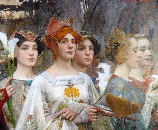 Edgard Maxence (1871-1954). Les fleurs du lac (1900) (Détail)