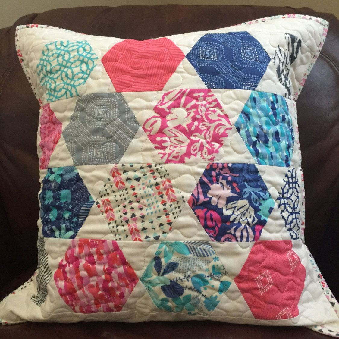 Paradiso Bettdecken Handmade Quilted Pillow Paradiso Fabric By Kate Spain By