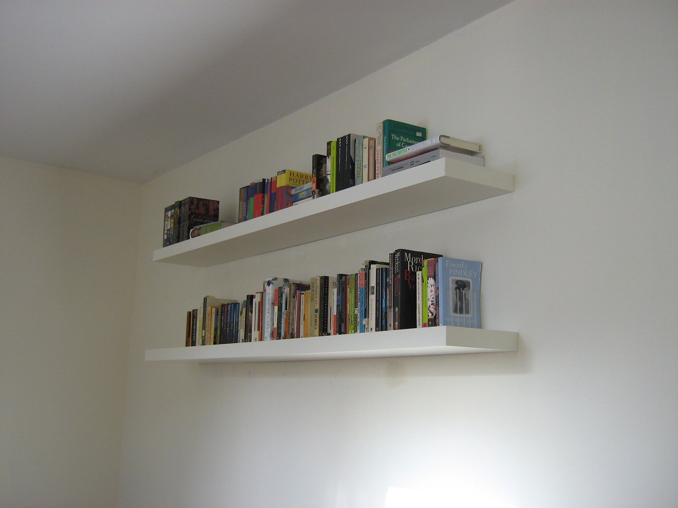 Book wall shelves gallery with design enhancement contemporary contemporary books floating shelves on white wall color panels with oak woods materials for decorate small bedroom simple furnishing design amipublicfo Gallery