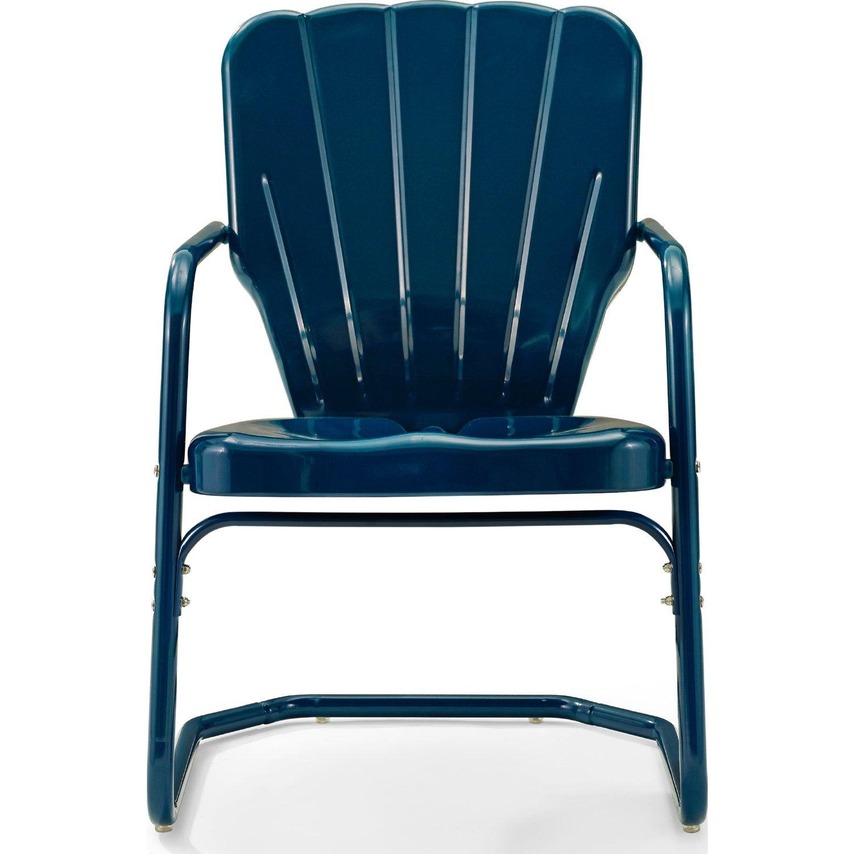 Outdoor Chair Navy Blue Metal