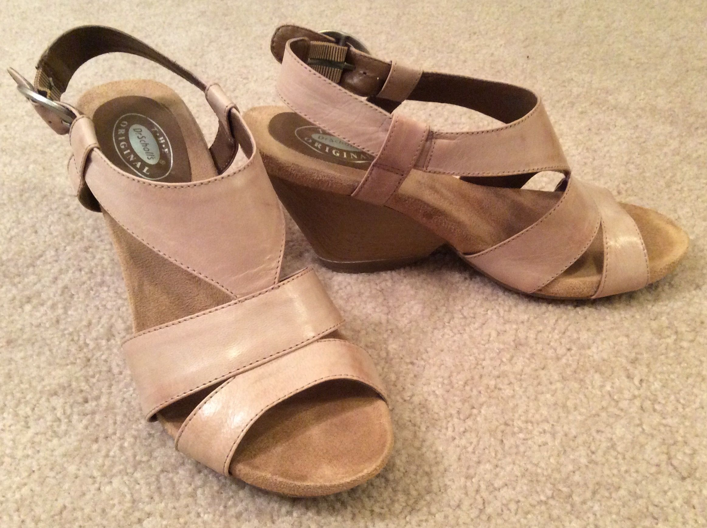 Steve Madden wedge sandals in Nude, sz 8. Marshall's?