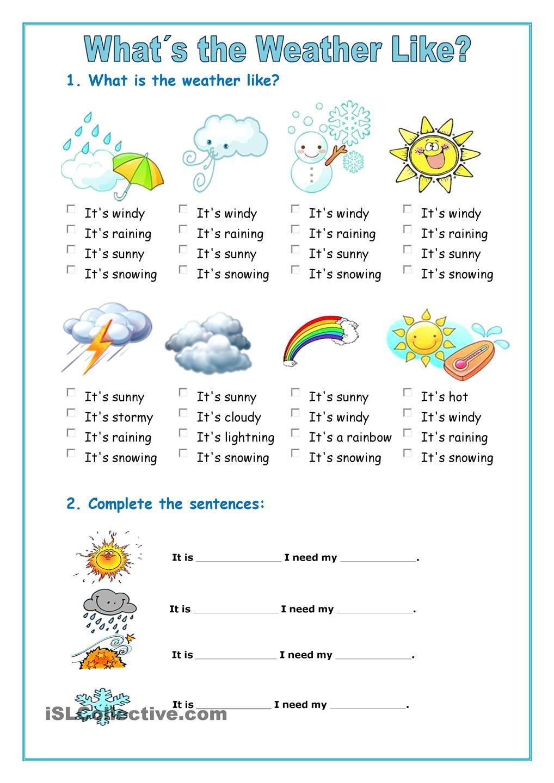 The weather Material escolar en ingles, Educacion ingles