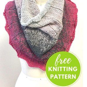 59150bb13788b1 Concentric Cowl Free Knitting Pattern is a one skein project using  beautiful ❤️HiKoo Concentric gradient yarn. Link in bio! 😀