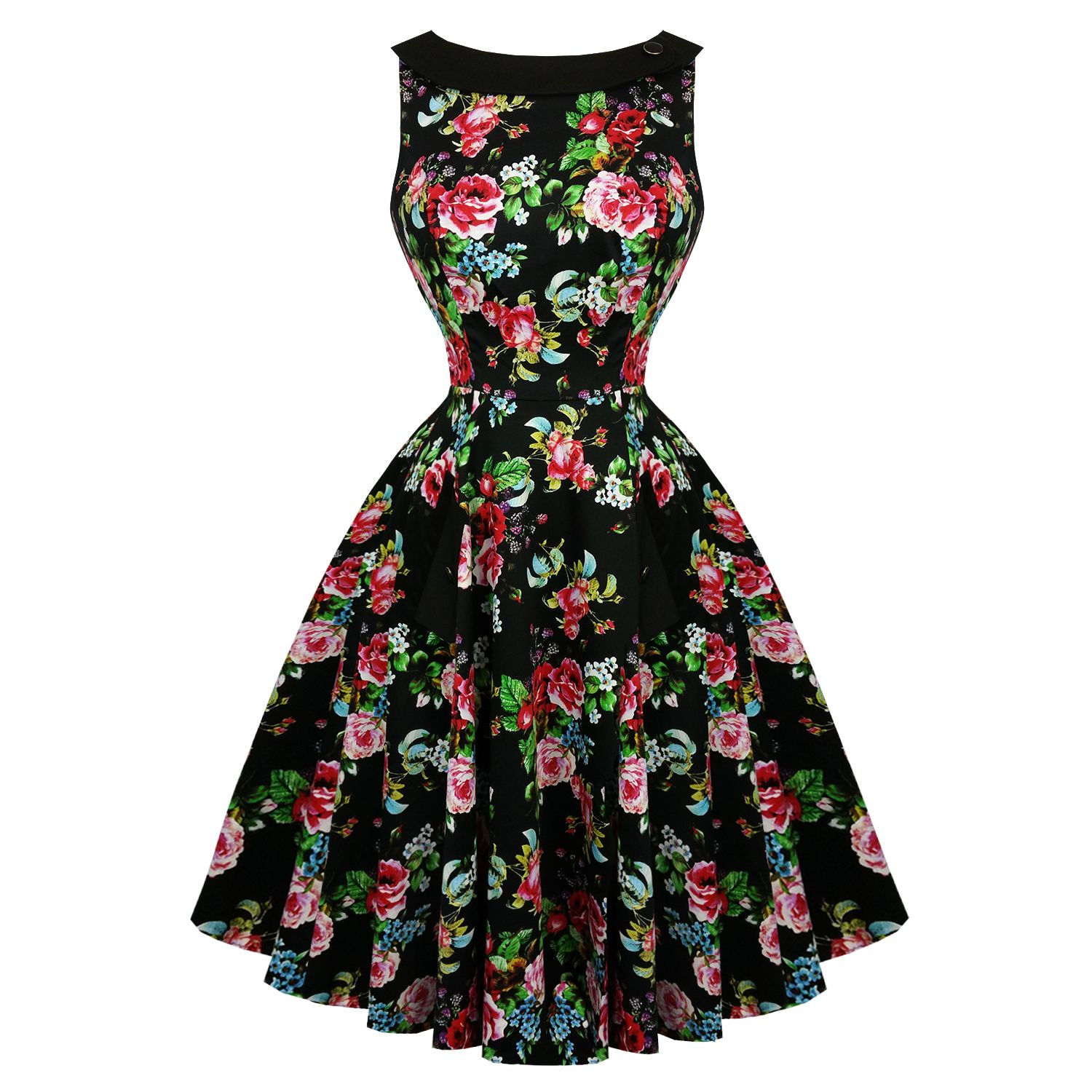 Hearts and roses london midnight rose garden s dress dresses