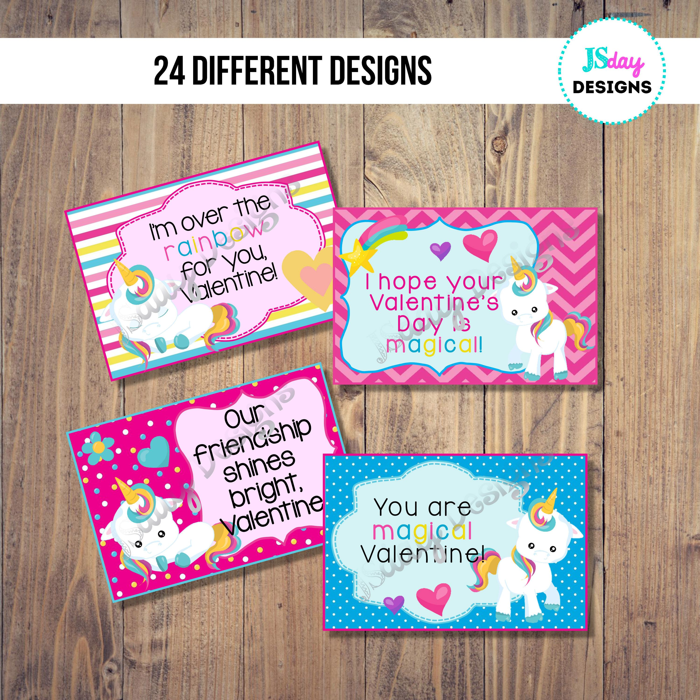 Unicorn Valentine Card; Valentine\'s Day; Valentines; Class Party ...