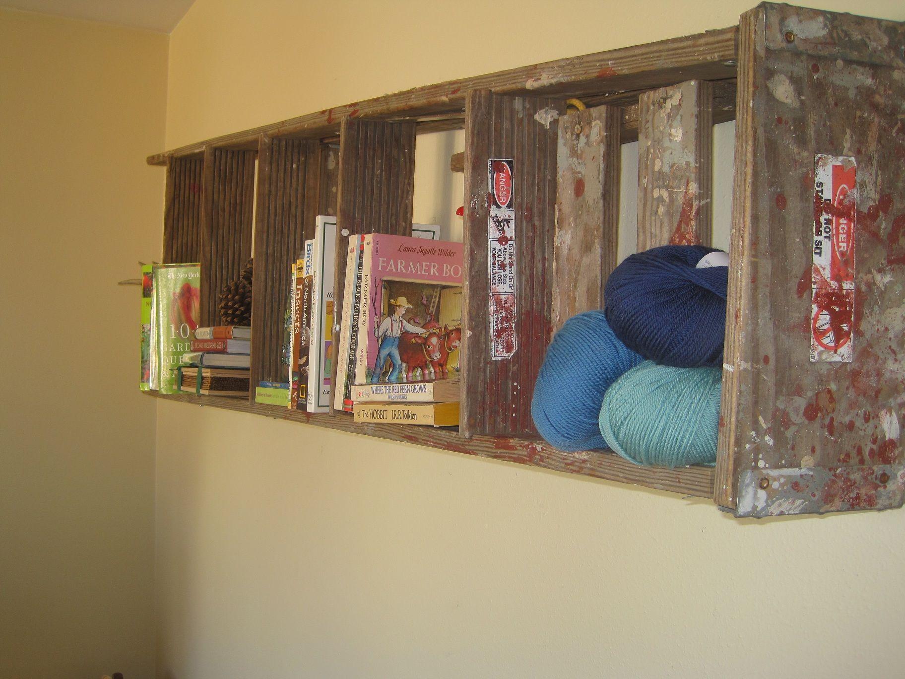 Step Ladder Bookshelf Ladder Bookshelf Wall Shelving Units